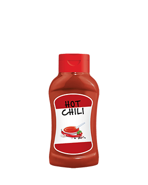 Plastik Şişe 320g Hot Chili Sos