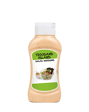 Thousand Island Salad Dressing Topdown Plastic